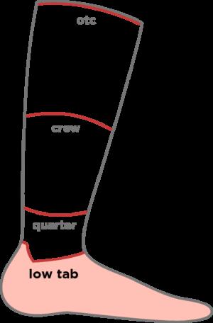Sockenhöhe low tab