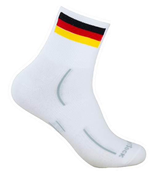 Modell STRIDE quarter mit Deutschlandfahne