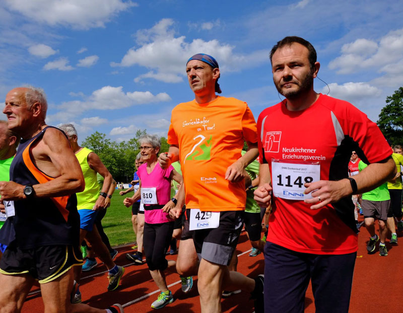 Jürgen Weiß beim Halbmarathon