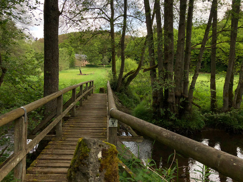 Holzbrücke an der Maismühle