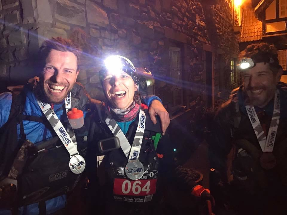 Finisherbild vom Spine Race 2017