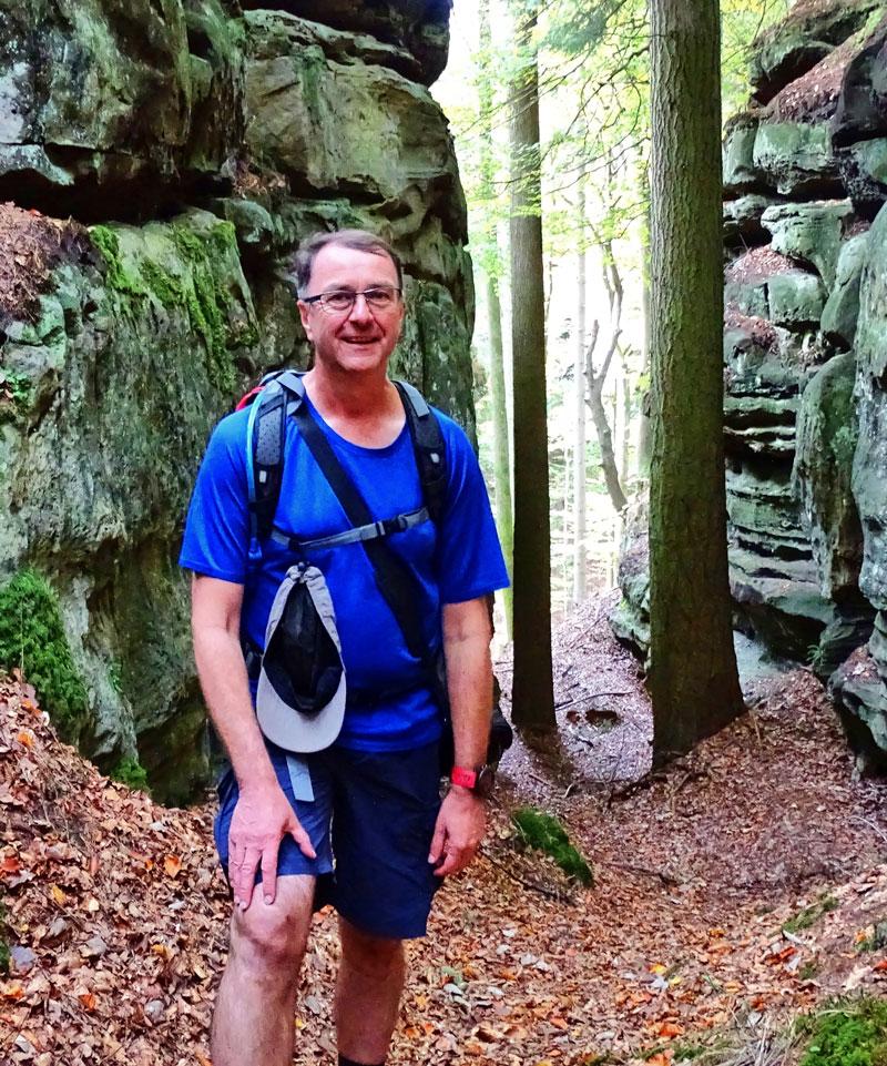Jörg auf dem Trail