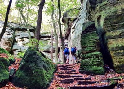 Felsformationen am Mullerthal Trail