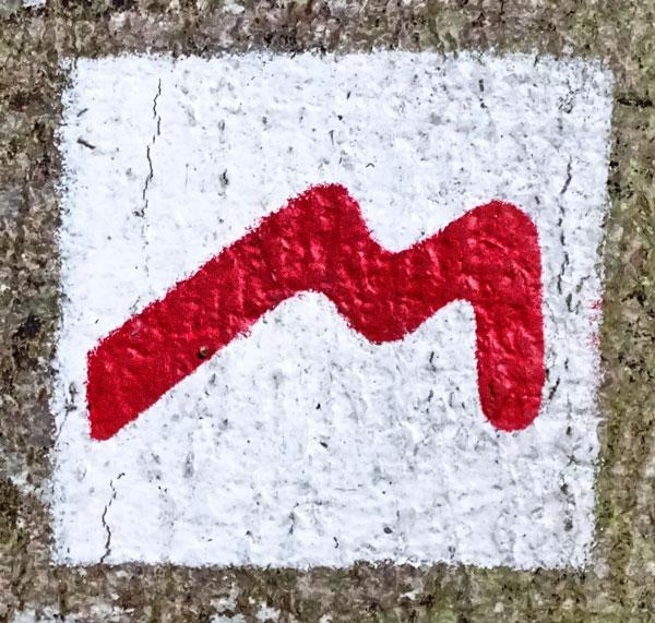 Mullerthal Trail Wegemarkierung
