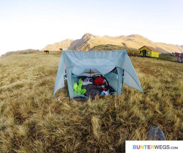 Übernachtung im Zelt am Black Rock Lake in Georgien