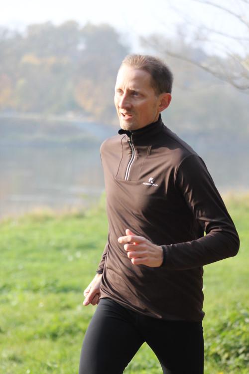 Laufcoach Stefan Wohllebe beim Lauftrainingraining