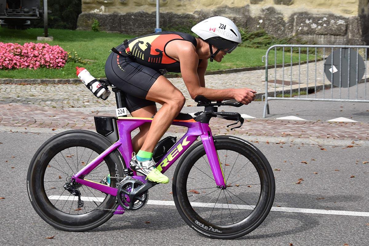 Simon Hoyden bei der Duathlon-Disziplin Bike